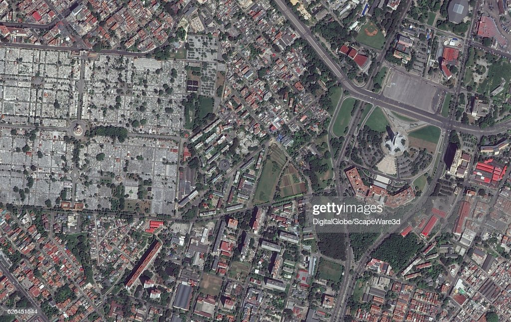 REVOLUCION, HAVANA, CUBA - SEPTEMBER 28, 2016: DigitalGlobe imagery of the Plaza de la Revolucion in Havana, Cuba. Photo DigitalGlobe via Getty Images.