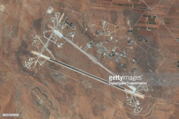DigitalGlobe imagery of the Shayrat Air Base outside of Homs Syria