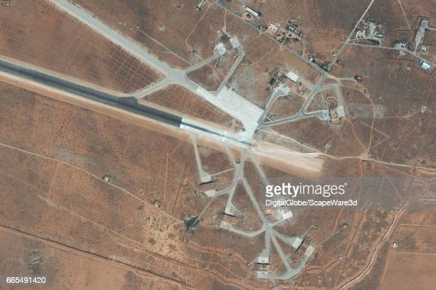DigitalGlobe imagery of the Shayrat Air Base outside of Homs Syria Closeup2