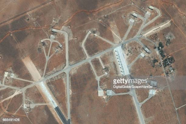 DigitalGlobe imagery of the Shayrat Air Base outside of Homs Syria Closeup1