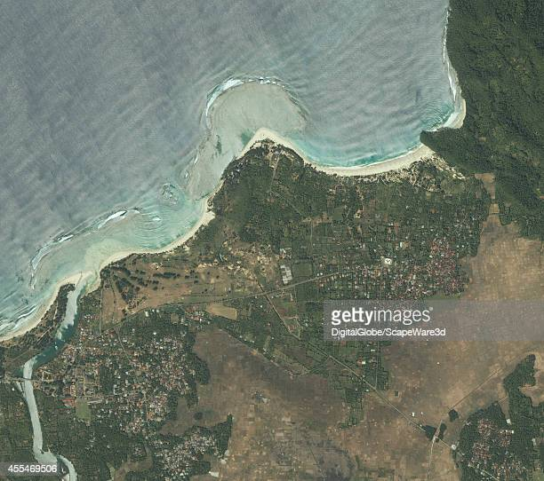 TSUNAMI LHOKNGA INDONESIA MARCH 1 2003 DigitalGlobe imagery of the town of Lhoknga on the west coast of Sumatra near the capital of Aceh Banda Aceh...