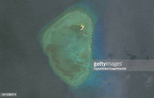 DigitalGlobe overview imagery of one of the Gaven Reefs The Gaven Reefs are located in the Tizard Bank of the Spratly Islands in the South China Sea...