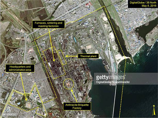 DigitalGlobe overview imagery of the Kim Chaek Iron and Steel's NORTH Complex Date May 8 2016 Mandatory credit for all images DigitalGlobe/38 North...