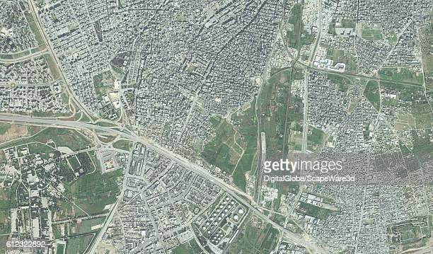 DigitalGlobe overview imagery of the the southern part of the AsSukkari district in Aleppo Syria before the destruction