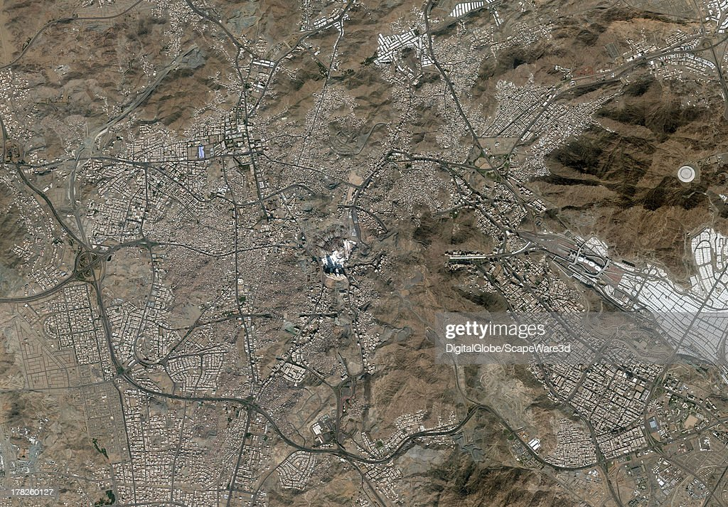 DigitalGlobe 'overview' Satellite Imagery of Mecca, Saudi Arabia.