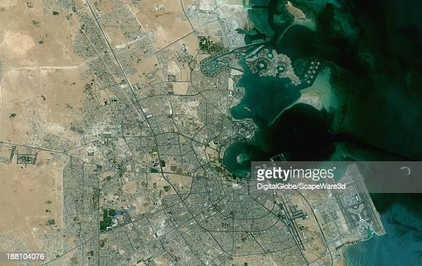 DigitalGlobe overview Satellite Imagery of Soha Qatar Imagery collection date May 7th 2011