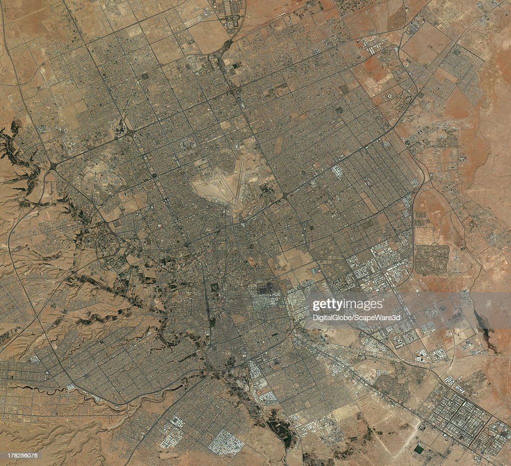 DigitalGlobe Satellite Imagery 'city cverview' of Riyahd, Saudi Arabia.