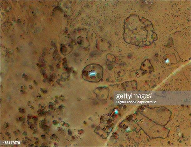 DigitalGlobe Satellite Imagery long after damage and destruction of a village in the Uubatale region of Ethiopia Photo DigitalGlobe via Getty Images