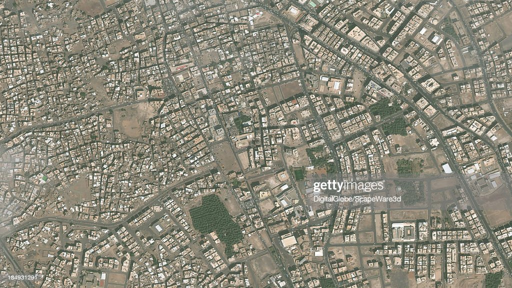 DigitalGlobe Satellite Imagery of the al-Bahr district, Medina, Saudi Arabia.