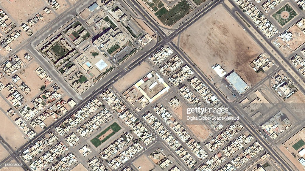 DigitalGlobe Satellite Imagery of the al-Jawazat district, al-Rass, Saudi Arabia.