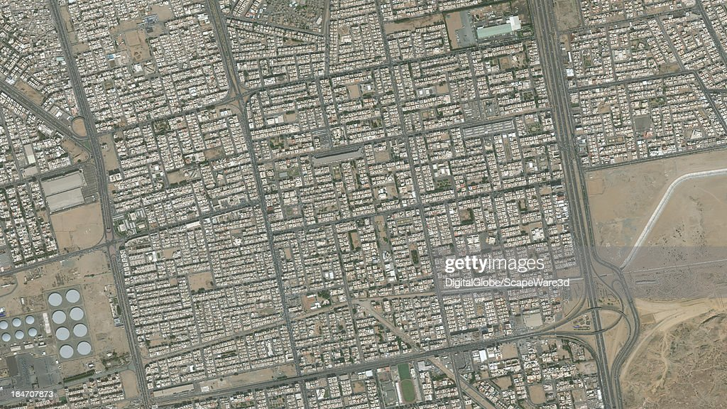 DigitalGlobe Satellite Imagery of the al-Safa district, Jeddah, Saudi Arabia.