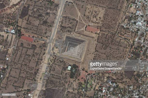 DigitalGlobe satellite imagery of the Pyramid of the Sun at Teotihuacan Photo DigitalGlobe via Getty Images