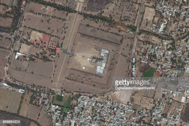 DigitalGlobe satellite imagery of the Temple of the Feathered Spirit at Teotihuacan Photo DigitalGlobe via Getty Images