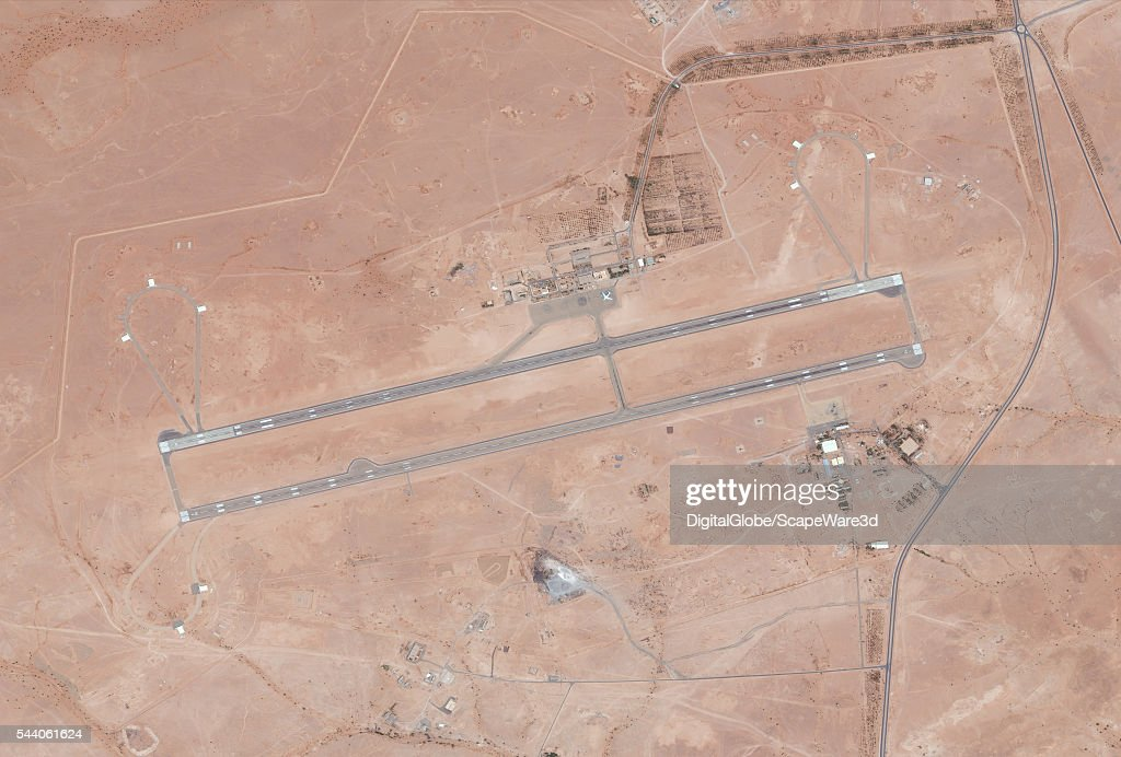 DigitalGlobe's Satellite imagery of Tindouf, Algeria Airport. Tindouf is the main town, and a commune in Tindouf Province, Algeria, close to the Mauritanian, Western Saharan and Moroccan borders.