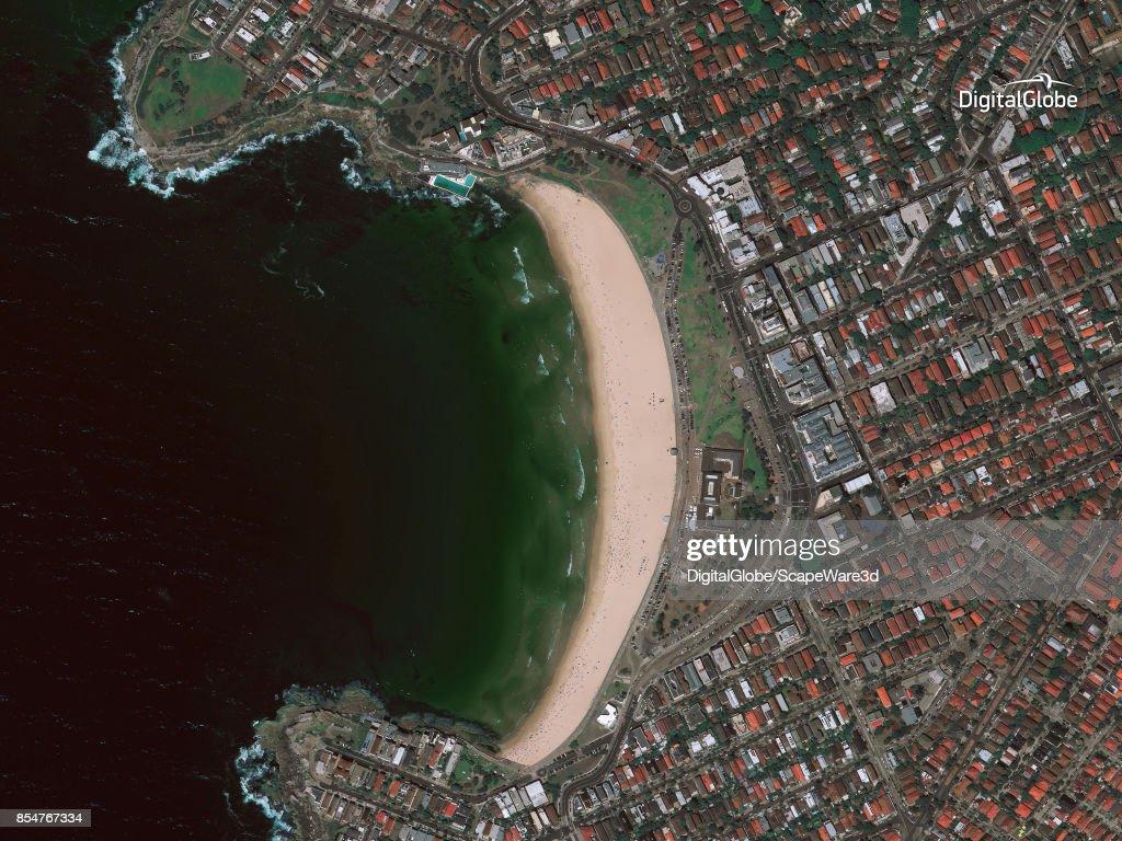 A stunning satellite image of the beach in Sydney, Australia