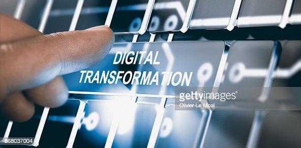 Digitalization, Digital Transformation Concept : Stock Photo