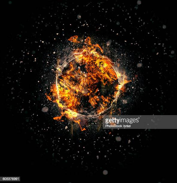 Digitally generated image of exploding supernova