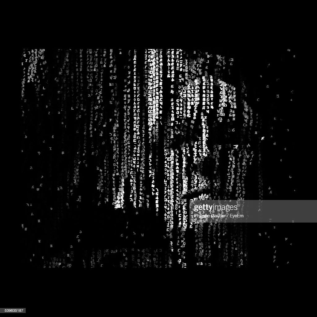 Digitally Generated Image Of Human Face