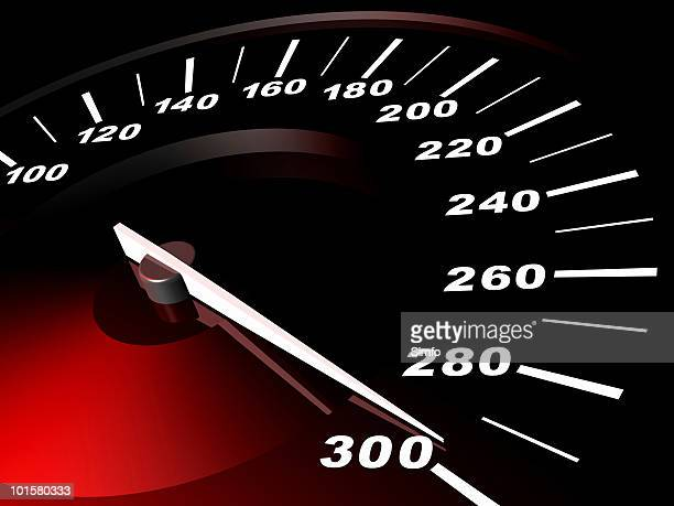 3D digitally generated image of speedometer
