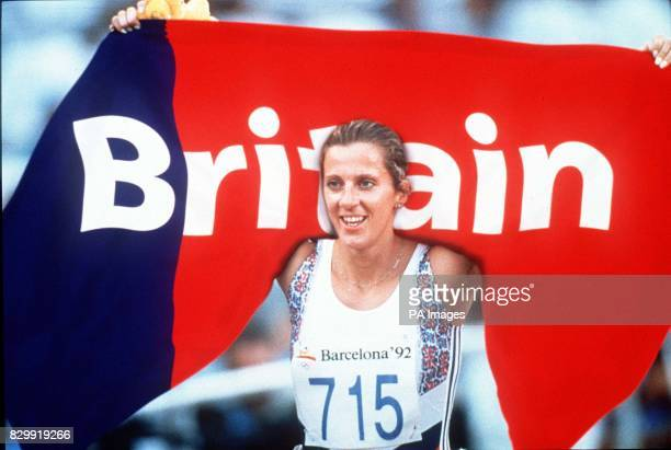 A digitallymanipulated image of athlete Sally Gunnell holding a copy of a redesigned Union Jack The picture will be shown on BBC 2's The Money...