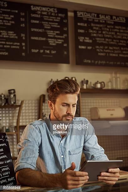 Digitizing his menu