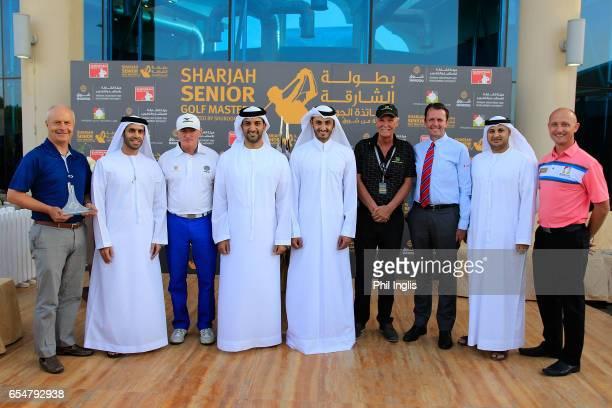 Dignatories Group photograph L to R John Mills HE Marwan bin Jassim Al Sarkal Chris Williams of South Africa Sheikh Sultan bin Ahmed Al Qasimi Sheikh...