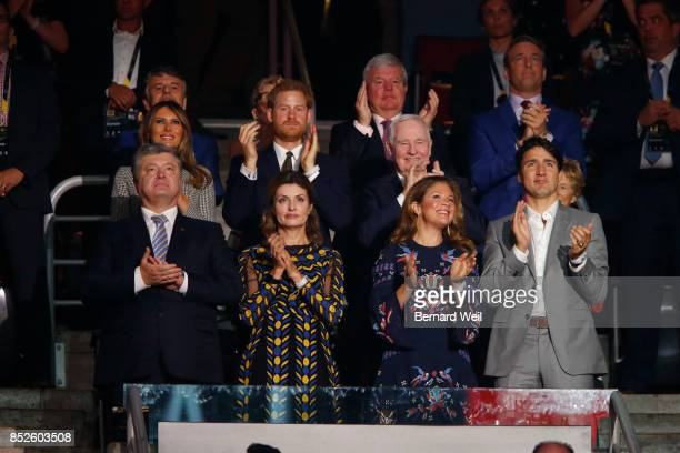 TORONTO ON DECEMBER 31 Dignitaries watch as the Canadian athletes parade into the arena during the opening ceremony of the Invictus Games at Air...