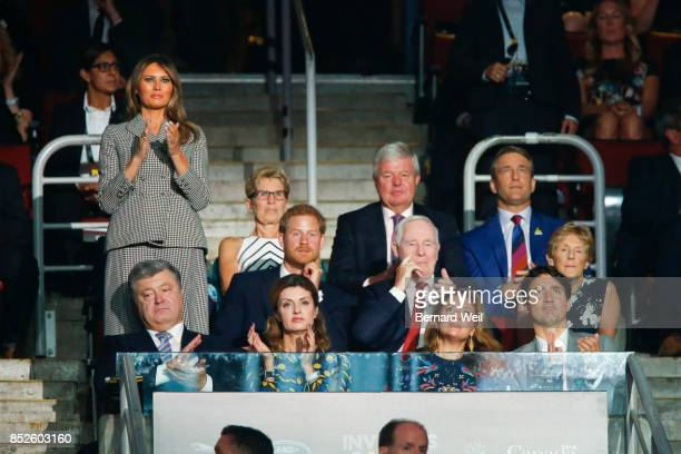 TORONTO ON DECEMBER 31 Dignitaries watch as the US athletes parade into the arena during the opening ceremony of the Invictus Games at Air Canada...