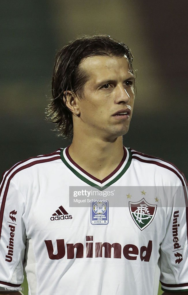Diguinho of Fluminense poses before a match between Portuguesa and Fluminense as part of the Brazilian Serie A 2013 at Caninde stadium on June 12, 2013 in Sao Paulo, Brazil