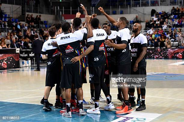Dijon team during the Pro A match between Antibes sharks and JDA Dijon on November 4 2016 in Antibes France