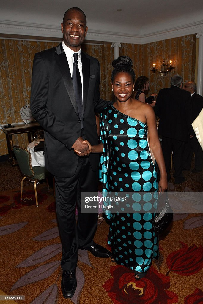 Dikembe Mutombo and Amini Kajunju attend Africa-America Institute 60th Anniversary Awards Gala at New York Hilton on September 25, 2013 in New York City.