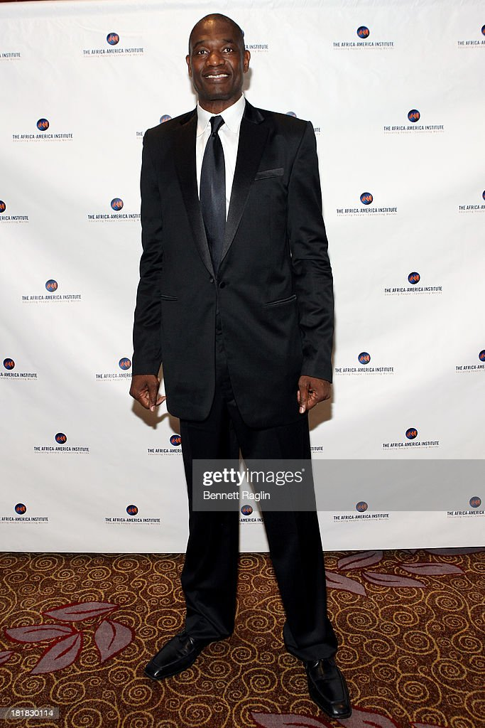 Dikembe Mutombo attends Africa-America Institute 60th Anniversary Awards Gala at New York Hilton on September 25, 2013 in New York City.