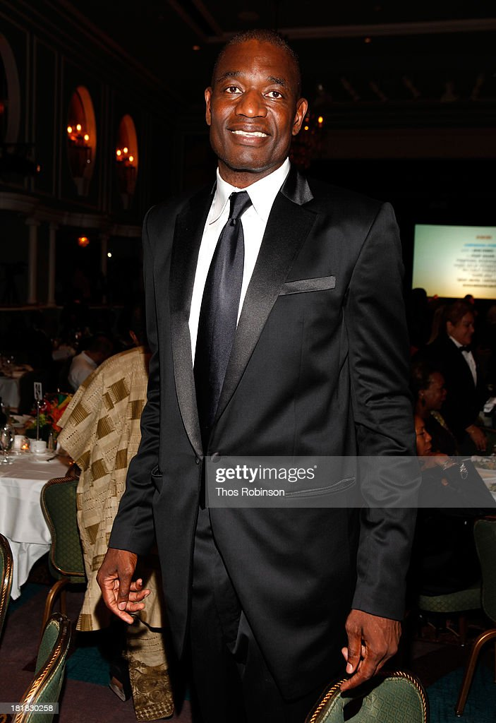 <a gi-track='captionPersonalityLinkClicked' href=/galleries/search?phrase=Dikembe+Mutombo&family=editorial&specificpeople=201659 ng-click='$event.stopPropagation()'>Dikembe Mutombo</a> attends Africa-America Institute 60th Anniversary Awards Gala at New York Hilton on September 25, 2013 in New York City.