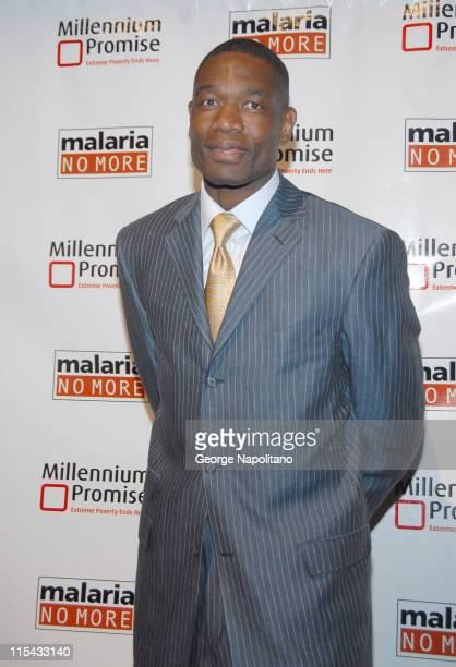 Dikembe Mutombo during Millennium Promise and Malaria No More Hold a Joint Benefit to Fight Extreme Poverty and Disease in Africa at Cipriani 42nd...