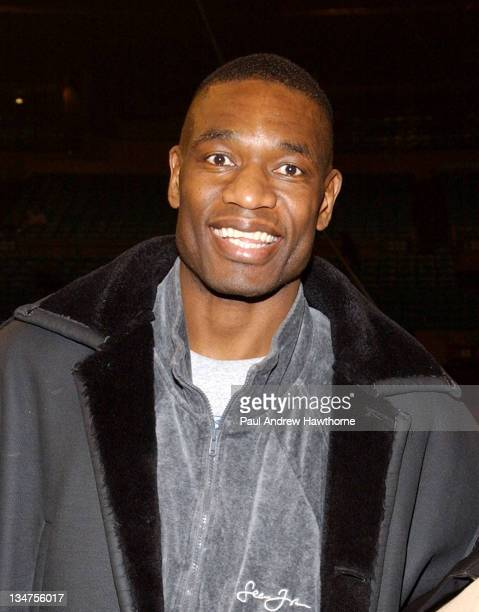 Dikembe Mutombo during Ringling Bros and Barnum Bailey The 134th Edition of The Greatest Show On Earth New York Arrivals at Madison Square Garden in...