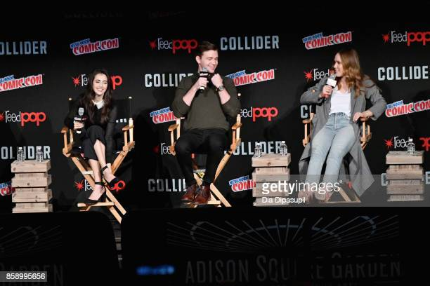 Dilan Gwyn Burkely Duffield Eden Brolin speak at the Freeform 'Shadow Hunters' and 'Beyond' Panel during 2017 New York Comic Con Day 3 on October 7...
