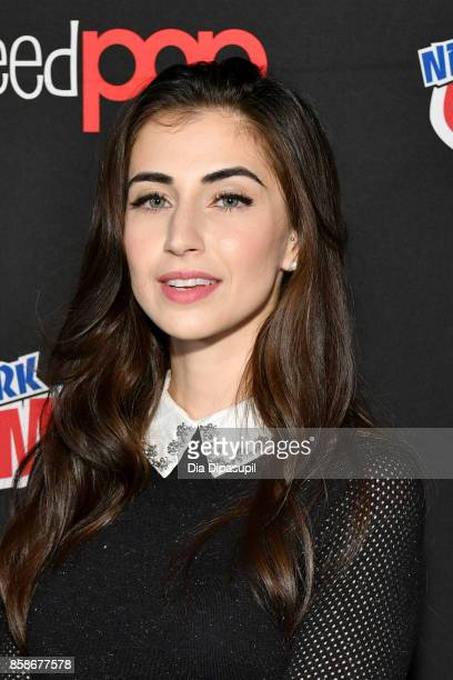 Dilan Gwyn speaks at the Freeform 'Shadow Hunters' and 'Beyond' Photo Call during 2017 New York Comic Con Day 3 on October 7 2017 in New York City