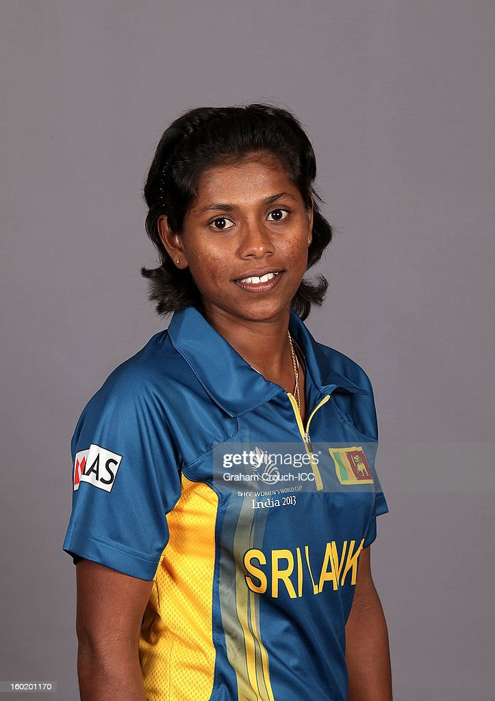 Dilani Manodara of Sri Lanka poses at a portrait session ahead of the ICC Womens World Cup 2013 at the Taj Mahal Palace Hotel on January 27, 2013 in Mumbai,India.