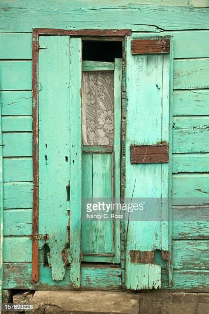 Caducas Caraíbas porta com Cortina de renda