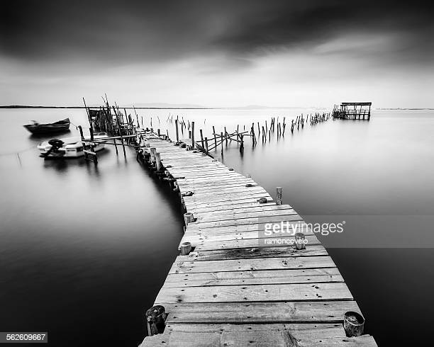 Dilapidated old pier in Carrasqueira, Portugal