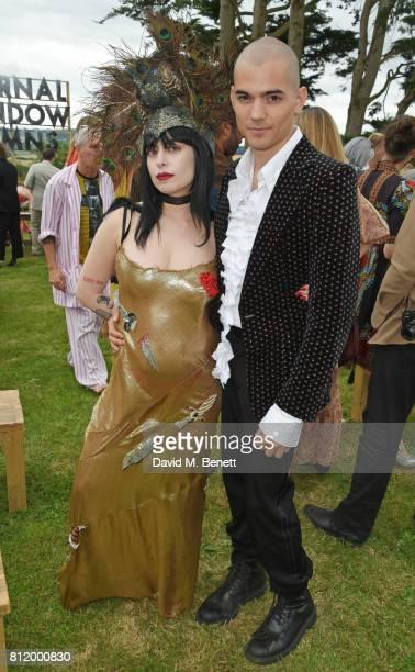 Dilara Findikoglu and guest attend Greta Bellamacina and Robert Montgomery's wedding on July 8 2017 in Exeter England