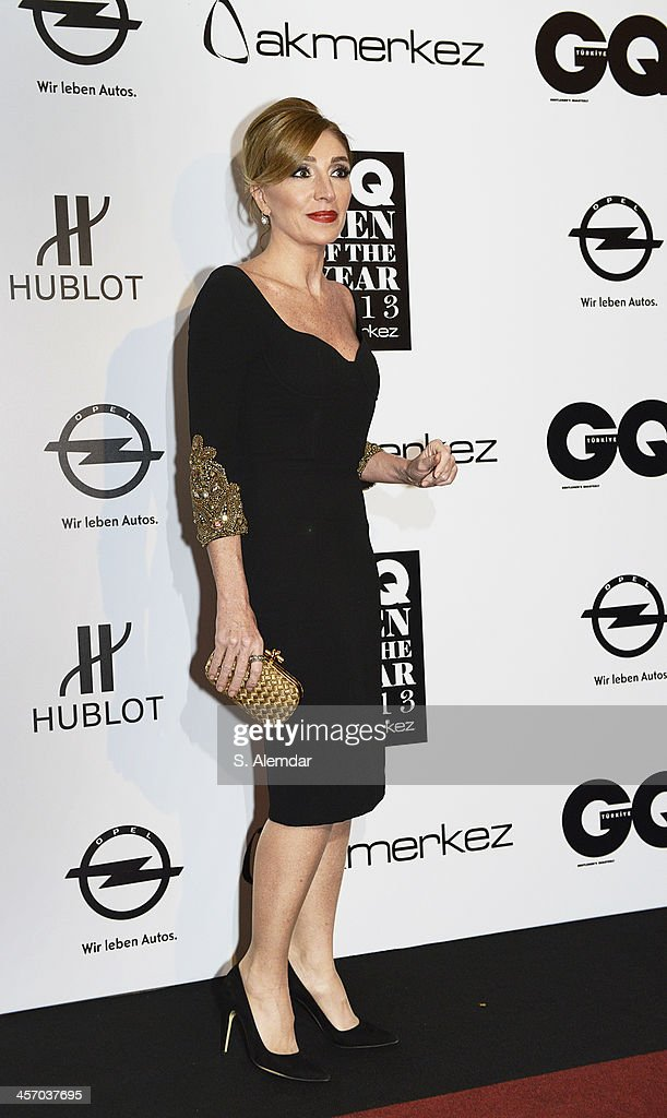Dilek Hanif attends the GQ Turkey Men of the Year awards at Four Seasons Bosphorus Hotel on December 11, 2013 in Istanbul, Turkey.