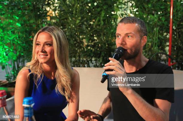 Diletta Leotta and Max Brigante attend Bikkembergs European Futsal Tournament on July 4 2017 in Milan Italy