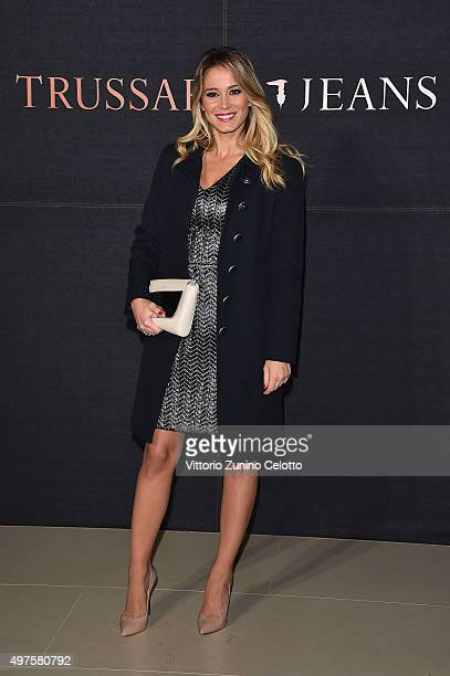Diletta Leotta attends a photocall for 'Trussardi Jeans Celebrates The New IT Bag' party on November 17 2015 in Milan Italy