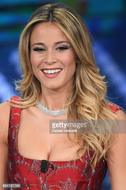 Diletta Leotta attends the opening night of the 67th Sanremo Festival 2017 at Teatro Ariston on February 7 2017 in Sanremo Italy
