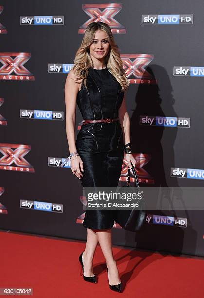 Diletta Leotta attends 'X Factor X' Tv Show Red Carpet on December 15 2016 in Milan Italy