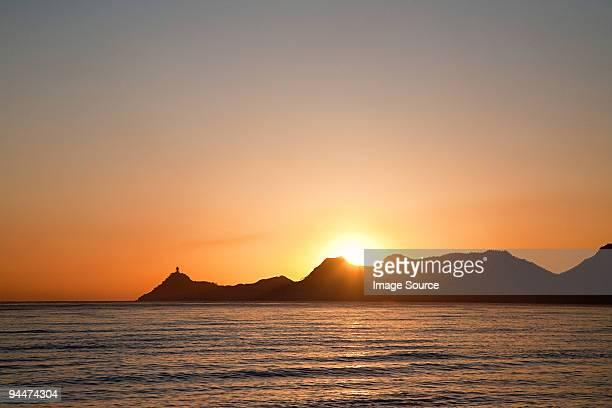 Dili harbor at sunrise