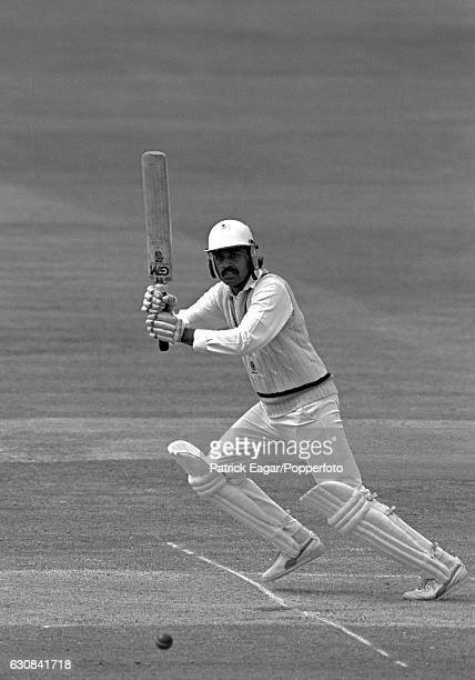 Dilip Vengsarkar batting for India during his innings of 126 in the 1st Test match between England and India at Lord's Cricket Ground London 7th June...