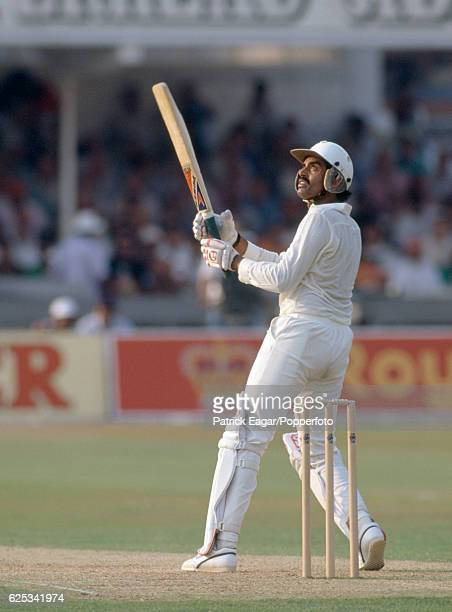 Dilip Vengsarkar batting for India during his innings of 54 in the 2nd Texaco Trophy One Day International between England and India at Trent Bridge...