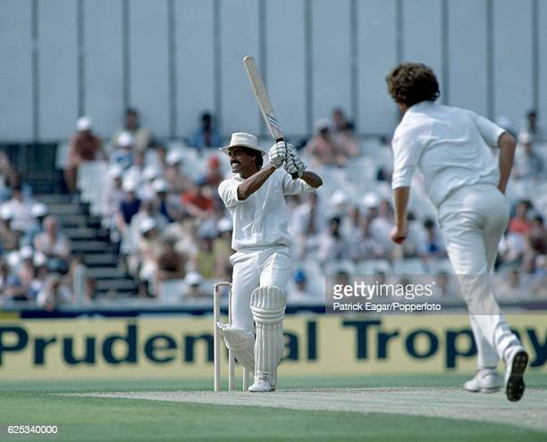 Dilip Vengsarkar batting for India during the 2nd Prudential Trophy One Day International between England and India at The Oval London 4th June 1982...
